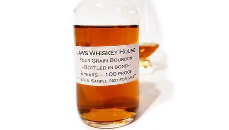 Laws 6-Year Bonded Four Grain Bourbon Label