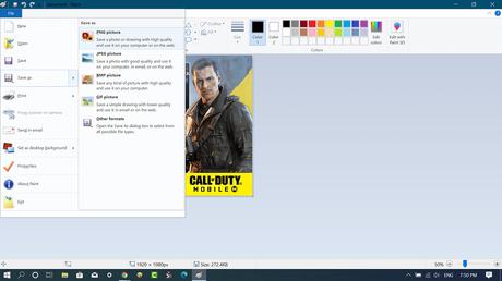 convert webp image file using Paint
