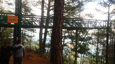 trekking with views at Tree top adventure
