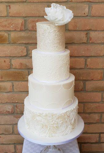 winter wedding cakes sparkle cake with flower honeybeebakesepping