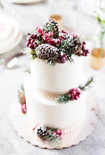 winter wedding cakes cake snow pine cones capitalcityweddings