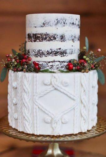 winter wedding cakes rustic cake with berry atelierdubonheur_france