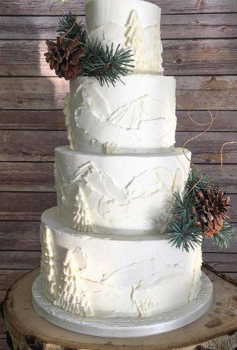 winter wedding cakes white cake pine cones jacquelinerosecakery