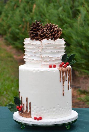 winter wedding cakes rustic winter cake cakecake ga