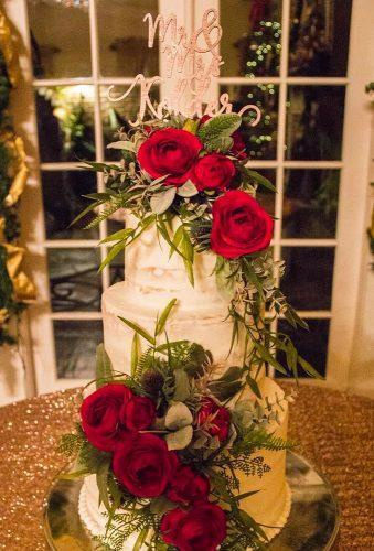 winter wedding cakes elegant cake with roses magnolia ceremonies