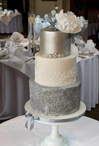 winter wedding cakes silver cake honeybeebakesepping