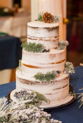 winter wedding cakes rustic cake with holly jess thecakelady