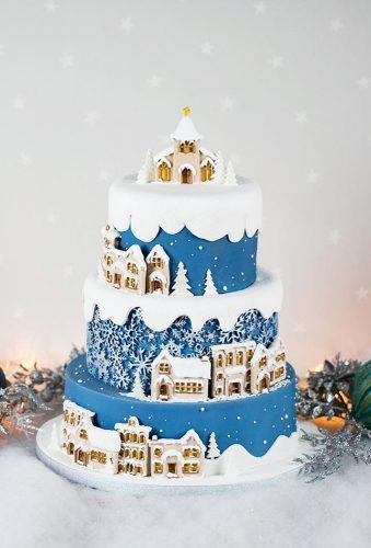 winter wedding cakes blue cristmas cake karen davies sugarcraft