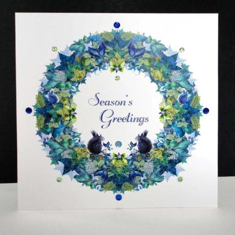 Blue Squirrel and Rabbit Christmas Garland