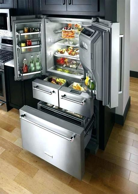 kitchenaid drawer fridge refrigerator removal 5 cu ft door french stainless