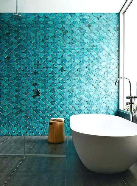 turquoise wall tiles large bathroom blue green the style files