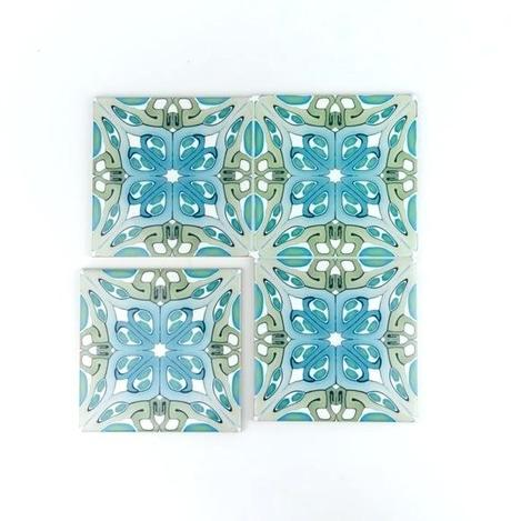 turquoise wall tiles metro art bathroom handmade gray kitchen green and blue small square pattern rative tile