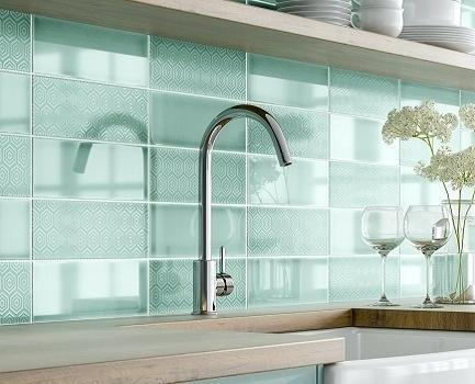 turquoise wall tiles metro bathroom patterned tile giant