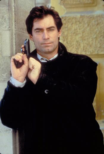 Bond's Leather Coat and Aston Martin in The Living Daylights