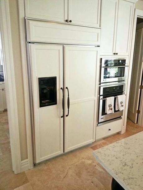 refrigerators custom panels ge monogram refrigerator door handles