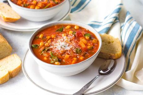 Italian Chickpea Soup with Tomato and Rosemary