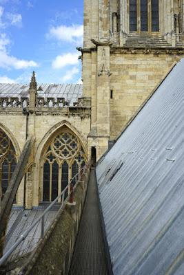 On top of York Minster
