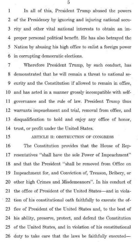 Judiciary Committee Drafts Two Articles Of Impeachment
