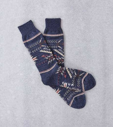 Dapper Classic Mid Calf Socks Purple Gray Herringbone