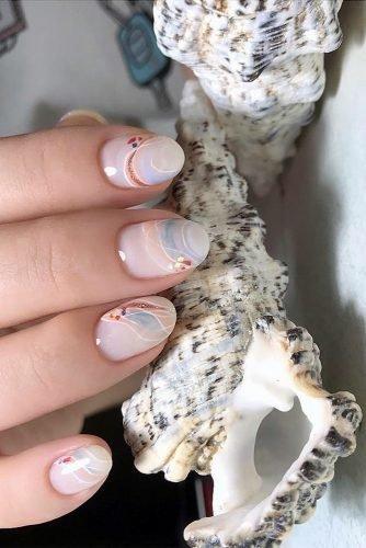 bridal nails trends pastel blue peach design mariapetrzak