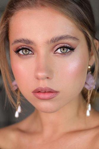 bridal makeup trends natural blush tones elegant arrows long lashes anastasiyabessarab