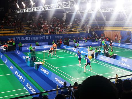 badminton match (Indonesia VS Thailand)