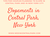 Tips Couples Eloping Married Central Park, York