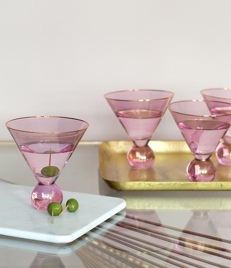 Pink martini glasses - cool barware