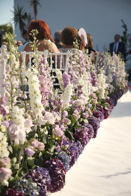 The dreamiest Greek island wedding in purple hues