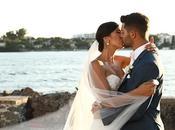 Dreamiest Greek Island Wedding Purple Hues