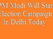 Modi Delhi Vidhan Sabha Election Campaign Start Kiya