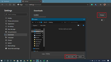 How to Change Default Download Folder in Microsoft Edge Chromium