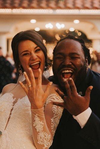 hip hop wedding songs happy newlyweds show off wedding rings