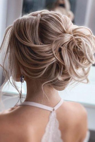 wedding hair trends blonde curly updo olesya_zemskova