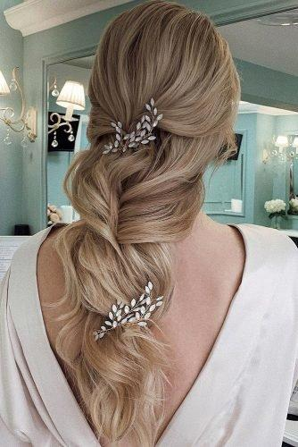 wedding hair trends long blonde long blonde hair down with accessories ulyana.aster