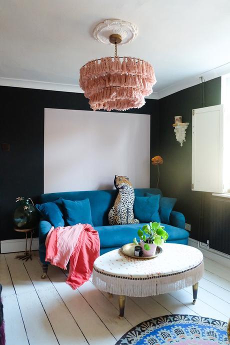 Victorian living room transformation - dark and moody decor