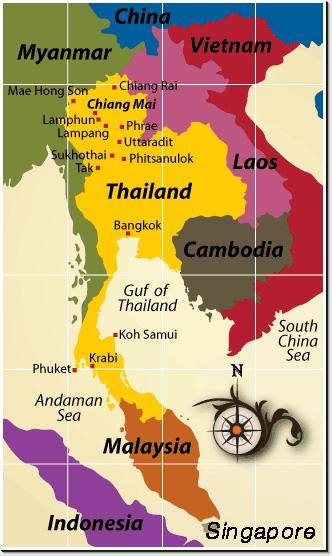 Image result for thailand you are here map