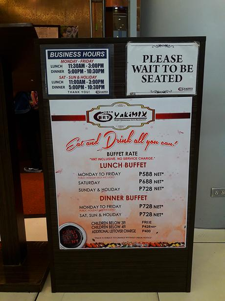 Yakimix rates and operating hours