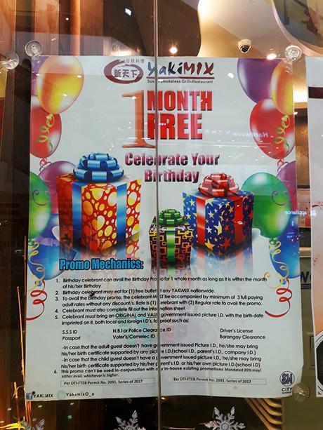 birthday promo