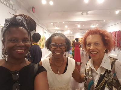 Artist Amanda Trought, Curator Janice Whittle, Artist Ann Rudder