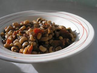 New Year Spicy Black Eyed Peas