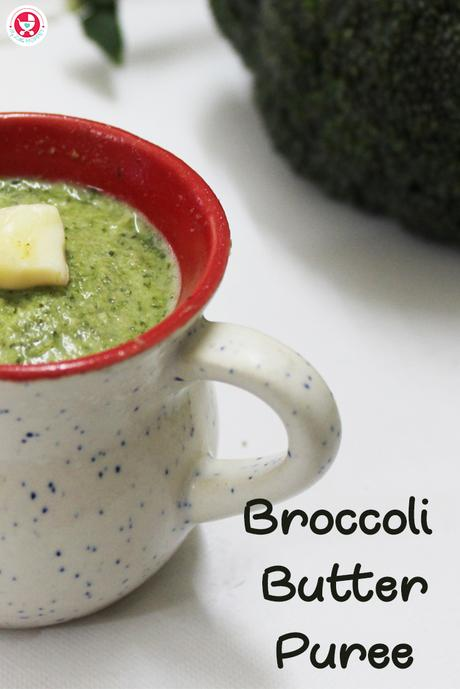 Here is the best nutritious puree recipe for your little ones!!! Broccoli Butter Puree is a simple yet energy rich nutritious treat to the tiny taste buds.