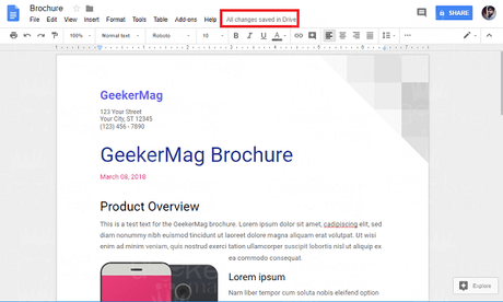 save document in google docs