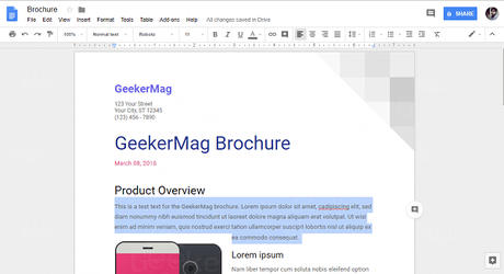 replace text in google docs