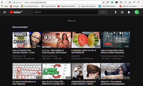 youtube channel (geekermag)