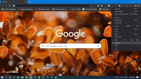 google chrome customize and control settings