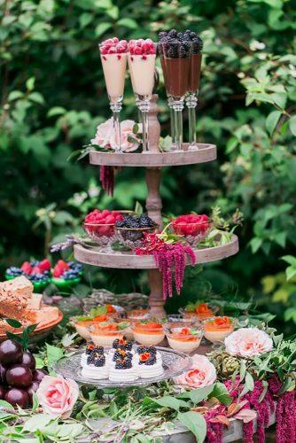 wedding dessert table ideas vintage modern dsert bar Gloria Mesa Photography