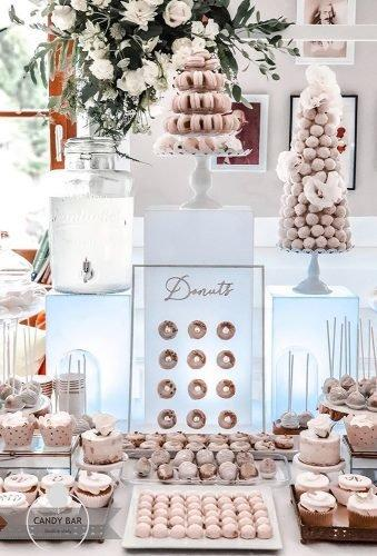 wedding dessert table ideas vintage modern donuts desert table candybarslodkiestoly