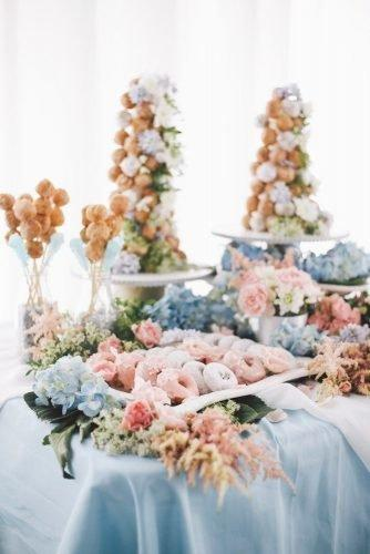 wedding dessert table ideas vintage modern blue pink candy OLLI STUDIO