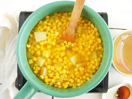 Spicy Potato Corn Chowder | Dairy-Free